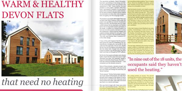 Warm and healthy Exeter Flats with no heating picture