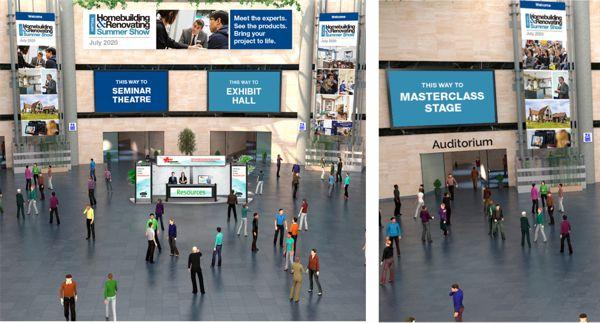 Homebuilding and renovating virtual show hall